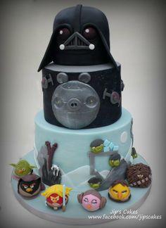 Angry Bird Star Wars Cake