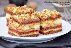 Prajitura cu alune, nutella si crema de vanilie