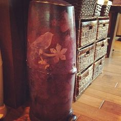 P!nk's Stenciled Diaper Genie.. not a diy, but an easy diy ... just layer colors to get the look you want.