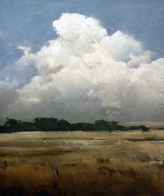 """Skies Over Cove"" - Joseph Alleman Oil, 30in x 25in www.mockingbird-gallery.com"