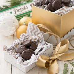 Our Pepts are perfect for holiday gatherings, gifting or alongside a cup of hot cocoa on a cold winter night. Winter Night, Gifts For Him, Holiday Gifts, Cocoa, Gift Wrapping, Candy, Holidays, Chocolate, Hot