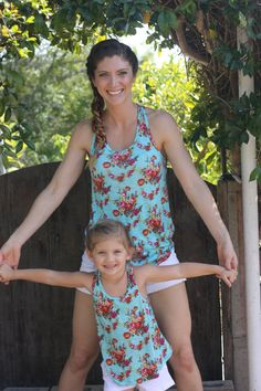 Custom Matching Mother Daughter Tanks by BrookeCatherine on Etsy Mommy and Me Shirts Outfits