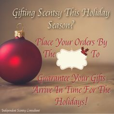 Scentsy Christmas cutoff flyer