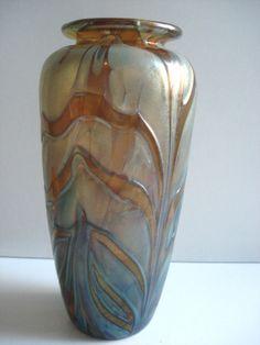 Schöne original Jugendstil Glas-Vase lüstrierend,signiert, Art Nouveau - glass Vase, Art Nouveau, Nova, Ebay, Home Decor, Nice Asses, Decoration Home, Room Decor, Vases