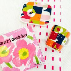 "This is the new fall home collection from Marimekko, featuring the ""Ruutu-Unikko"" and ""Kullervo"" print! All available at https://www.spotitbuyit.com/kiitosmarimekko/posts/55afdbf569702d24dbaa3e00/"