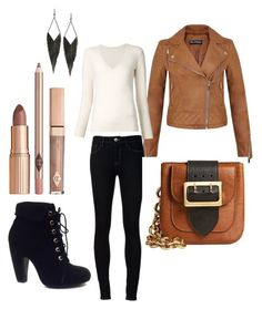 """""""The Biker Look"""" by anupriya-mishra on Polyvore featuring Miss Selfridge, Chloé, Ström, GUESS, Burberry and Bamboo"""