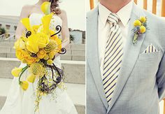 modern yellow bouquet - enfianced
