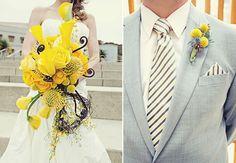 modern yellow bouquet - enfianced