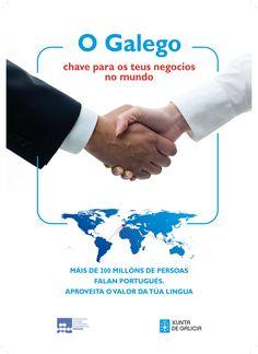 [Federación Galega de Parques Empresariais  e Secretaría Xeral de Política Lingüística da Xunta de Galicia, 2012] Advertising, Nail, Libraries, Ad Campaigns, Poster