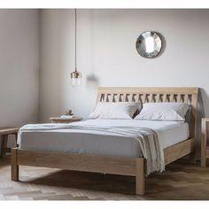 Marlow Oak Kingsize Bed -  Modish Living Reclaimed wood bed