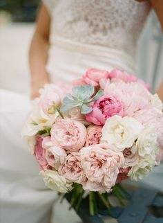 Peony and succulent bouquet | Archetype Studio