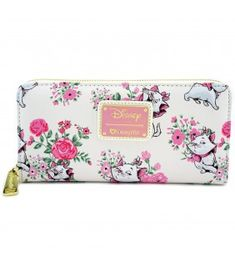 ff2a9c4ab Loungefly x Disney Marie Floral Wallet Hello Kitty Purse, Suitcase Bag, Mini  Backpack,