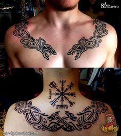 Viking Jormungand Tattoo was one of the most famous Viking Tattoos. The Viking Jormungand Tattoo somehow reflected the Ouroboros Tattoo representing the infinite circle of life and death. Fenrir Tattoo, Ouroboros Tattoo, Norse Tattoo, Celtic Tattoos, Wolf Tattoos, Body Art Tattoos, Sleeve Tattoos, Celtic Wolf Tattoo, Tatoos