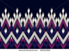 Ikat Pattern Wrapping Geometric Ethnic Seamless Design For Backgroundwallpaperclothing And