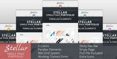 Stellar - Single Page Portfolio with Parallax . Stellar has features such as High Resolution: No, Compatible Browsers: IE8, IE9, IE10, Firefox, Safari, Opera, Chrome