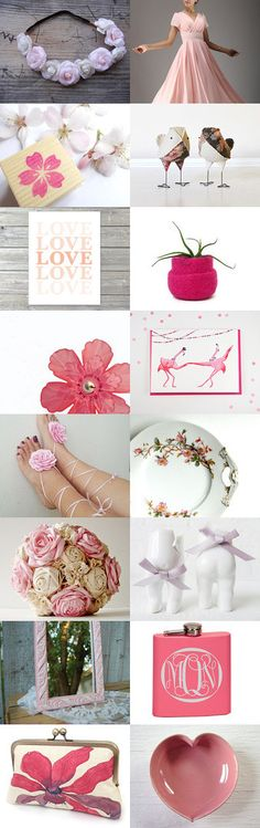 Pink Wedding  by Elinor Levin on Etsy--Pinned with TreasuryPin.com