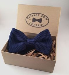 Mens Knitted Bowtie Navy Blue Pre tied Boxed Groomsmen Gift Wedding Fathers Day in Clothes, Shoes & Accessories, Men's Accessories, Ties, Bow Ties & Cravats | eBay