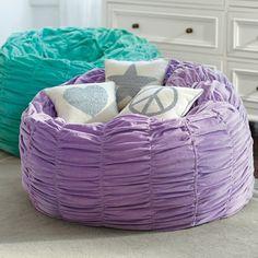 Kinderzimmer lila grün Sitzsack Ideen