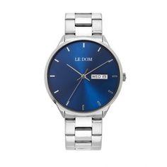 Ανδρικό ρολόι LE DOM LD.1435-2 Maxim με μπλε καντράν, ημέρα, ημερομηνία, ορειχάλκινη κάσα με μπρασελέ | Ανδρικά ρολόγια Le Dom ΤΣΑΛΔΑΡΗΣ στο Χαλάνδρι #LeDom #Maxim #ρολοι #tsaldaris Bracelet Watch, Watches, Bracelets, Accessories, Watch, Clocks, Clock, Bracelet, Arm Bracelets