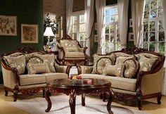 traditional living room furniture   Formal Living Room Furniture features Traditional style and ...