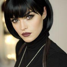 """Lashes by Red Cherry No 523  Lipstick Kryolan LF412  #anastasiabeverlyhills #smokeyes #beautiful #makeup #makeupjunkie #makeupmafia #makeuplooks #amrezy…"""