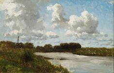 Paul Joseph Constantin Gabriël - Landschap met water (1880)