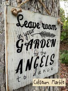 Garden Angels garden sign garden art angel by TheVintageHammer