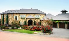 French Country exteriors | Horseshoe Bay French Country Lakefront by Zbranek & Holt Custom Homes ...