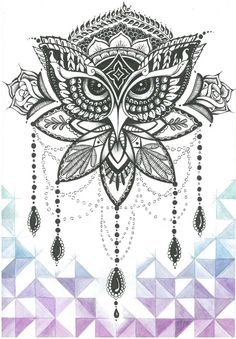 Mandala Owl Tattoo                                                                                                                                                                                 More