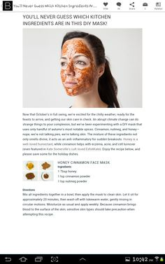 DIY Honey Cinnamon Face Mask   doesn't look nice but your face will love you for it!