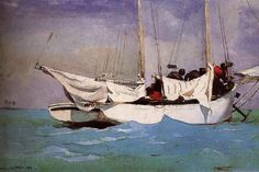 Winslow Homer Anchor ready to berthing