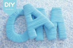 DIY: Cómo realizar letras con lana para decoraciones
