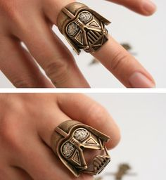 Darth Vader ring that opens it's mouth! lol my neices would love to play with this! I could make it talk to them! lol