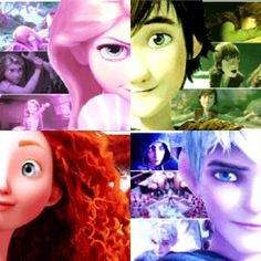   Jack, Rapunzel, Merida, and Hiccup - The Big Four Photo .