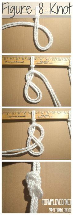 Macrame knot: figure8