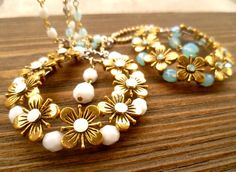LONG NECKLACE VINTAGE style collana lunga stile di SissiHand