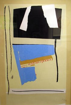 Robert Motherwell. #Art #Abstract Expressionism #Motherwell