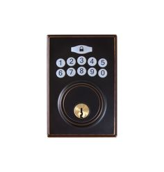 Hickory Hardware HH075773 Single Cylinder Grade 3 Electronic Keyless Entry Deadb Vintage Bronze Deadbolt Keyless Entry Electronic