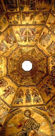 The Baptistry San Giovanni Basilica -ceiling detail- Florence, Tuscany | Italy