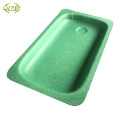 Molded inner packing green cellphone tray sugarcane pulp packaging
