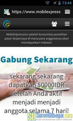Bukalah website Mobi  Bukalah website MobileXpression melalui browser | SurveiDibayar.com