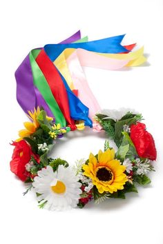 could hang a Ukrainian wreath on door, instead of wearing on head for Ukrainian holidays