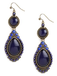 Got the blues?  Our Royal Tear Drops are for you.  We love the sapphire + cobalt hues of these beauties!