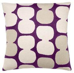 Tabla 18x18 Embroidered Pillow, Purple