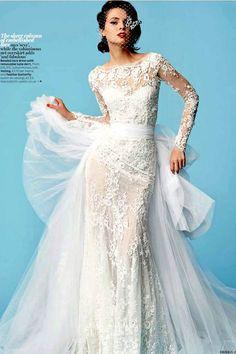 Zuhair Murad wedding dress long sleeve lace