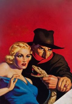 THE SHADOW PULP MAGAZINE COVER FOR THE VOODOO TRAIL