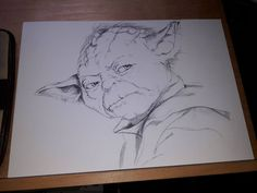 New Project work in progress, #Yoda #art check out my other drawings please at http://www.music-memories-art.co.uk  Thank you