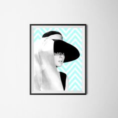 Audrey Hepburn portrait print breakfast at Tiffany's wall art Audrey... ($5.22) via Polyvore featuring home, home decor, wall art, audrey hepburn poster and audrey hepburn wall art