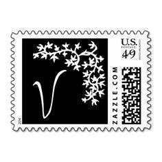 V Monogram (Black Ivy Corner) Postage Stamp