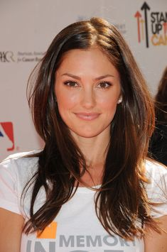 Minka Kelly- I LOVE the reddish brown color